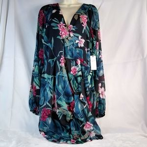 Guess LS Rhodes Jungle Dress XL